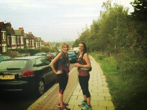 Anna and Louise on a run