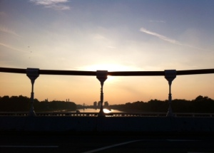 Sunset over Chelsea Bridge