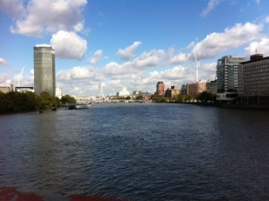 View over the river from Vauxhall Bridge