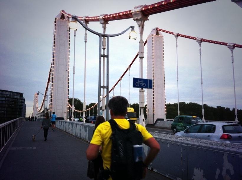 Chelsea Bridge and runner