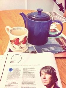 Tea and newspaper