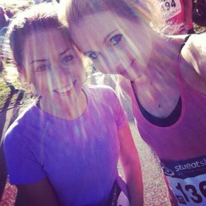 Me and Becks at teh Thames half