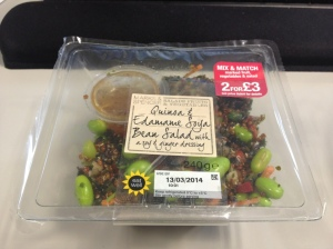 My favourite M&S quinoa, edamame and soya bean salad
