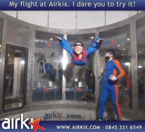 Flying at Airkix