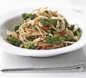 Low GI recipes from BBC Good Food - Whole wheat pasta with broccoli and almonds