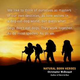 Quote from 'Natural Born Heroes'