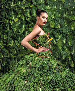 Green is the new black. Photograph: Perou for the Guardian