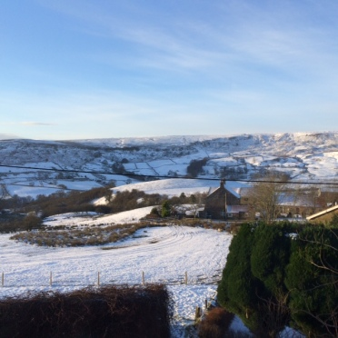 The view from our bedroom window at The Orange Tree