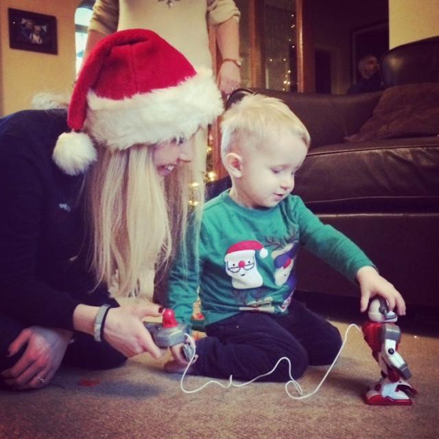 Christmas Day with my nephew Oscar