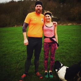 Running buddies! Boxing Day run in the rain with my brother-in-law