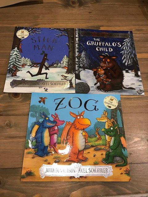 'Stick Man', 'The Gruffalo's Child' and 'Zog'